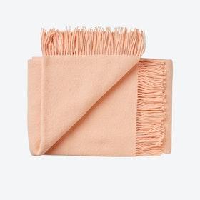 Athen Wool Throw in Rose-Cloud