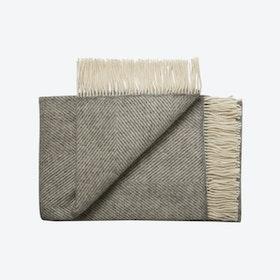 Bornholm Wool Throw in Fishbone Grey