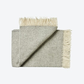 Bornholm Wool Throw in Grey Stripe