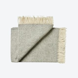Bornholm Wool Throw in Grey Stripe