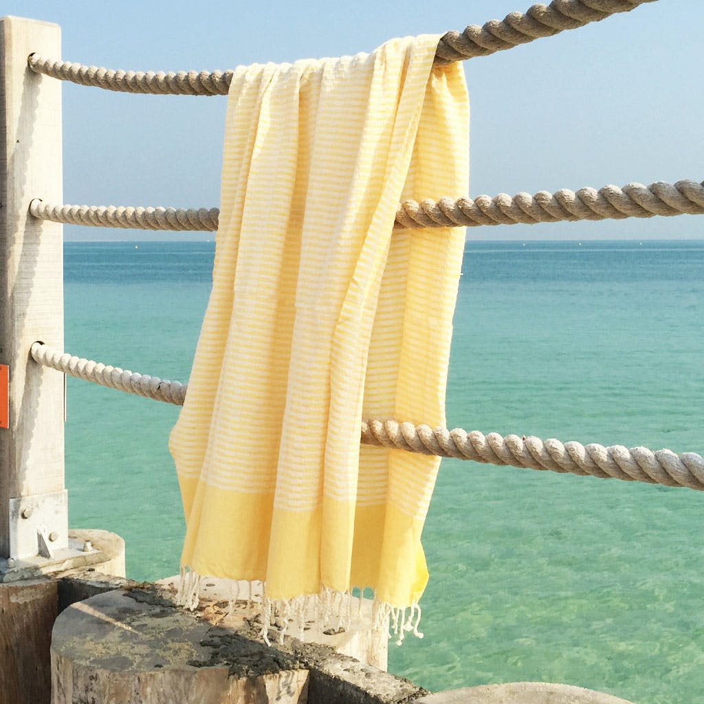 The Holiday / Sunshine Beach Towel in Yellow