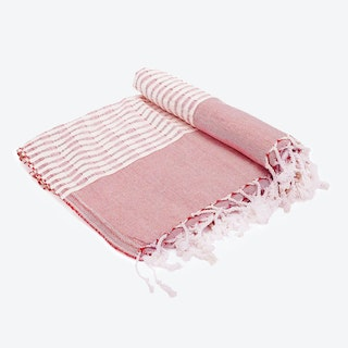 The Holiday / Coral Beach Towel in Light-Red