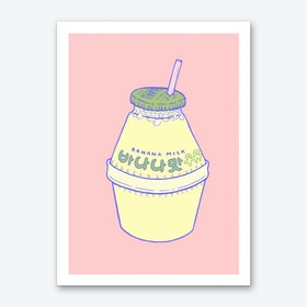Banana Milk Art Print