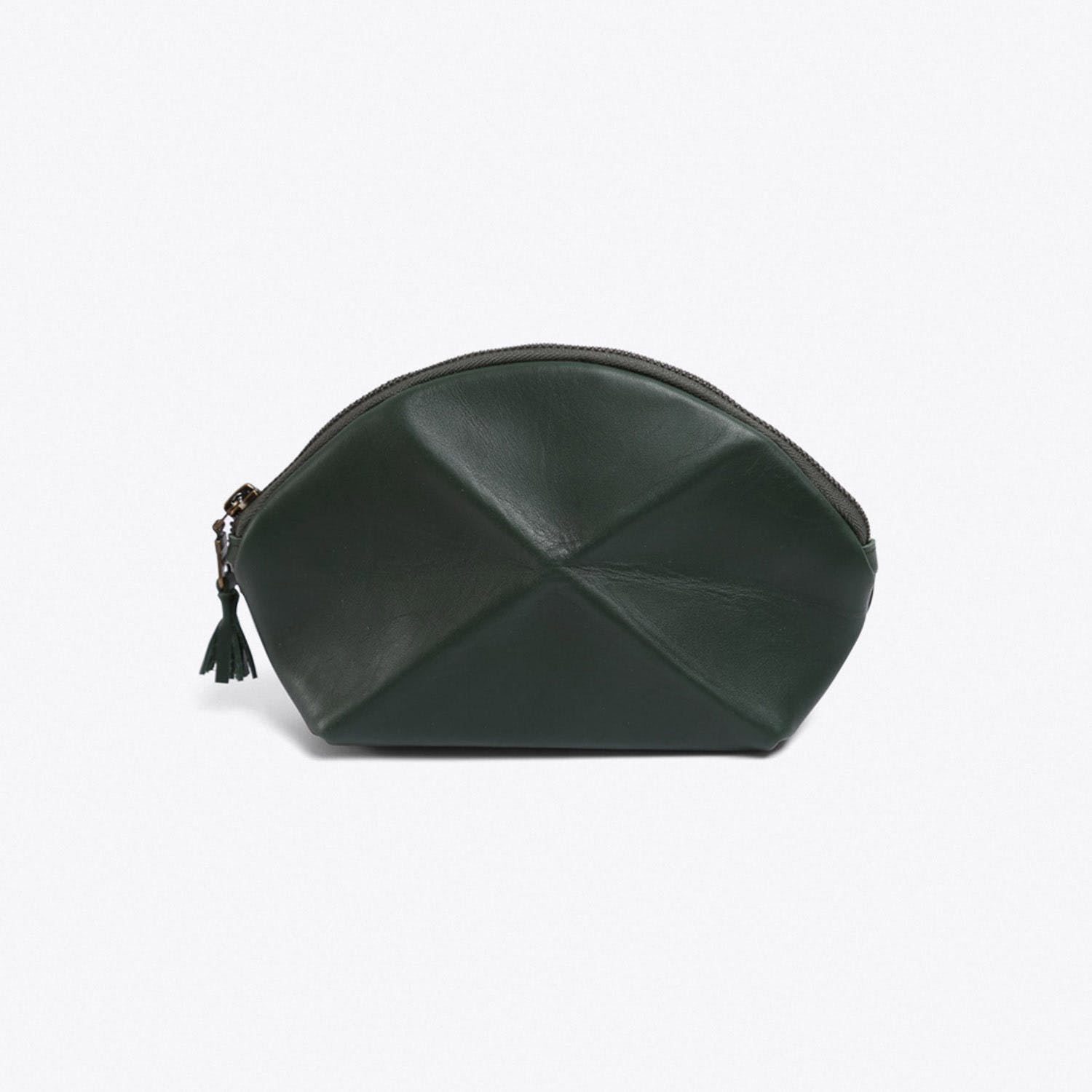 Pyramid Make Up Bag in Green