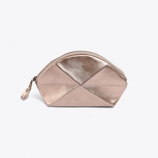 Pyramid Make Up Bag in Gold