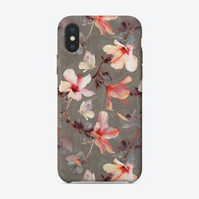 Coral Hibiscus  iPhone Case