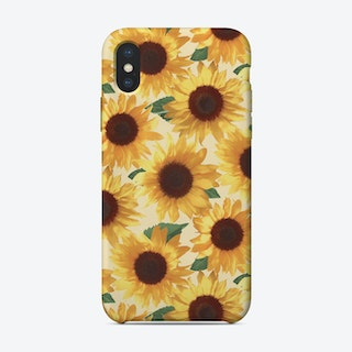 Happy Yellow Sunflowers  iPhone Case