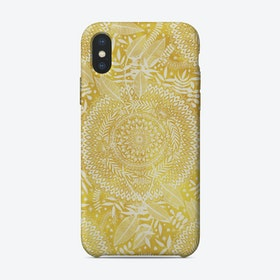 Medallion Pattern in Mustard and Cream  iPhone Case