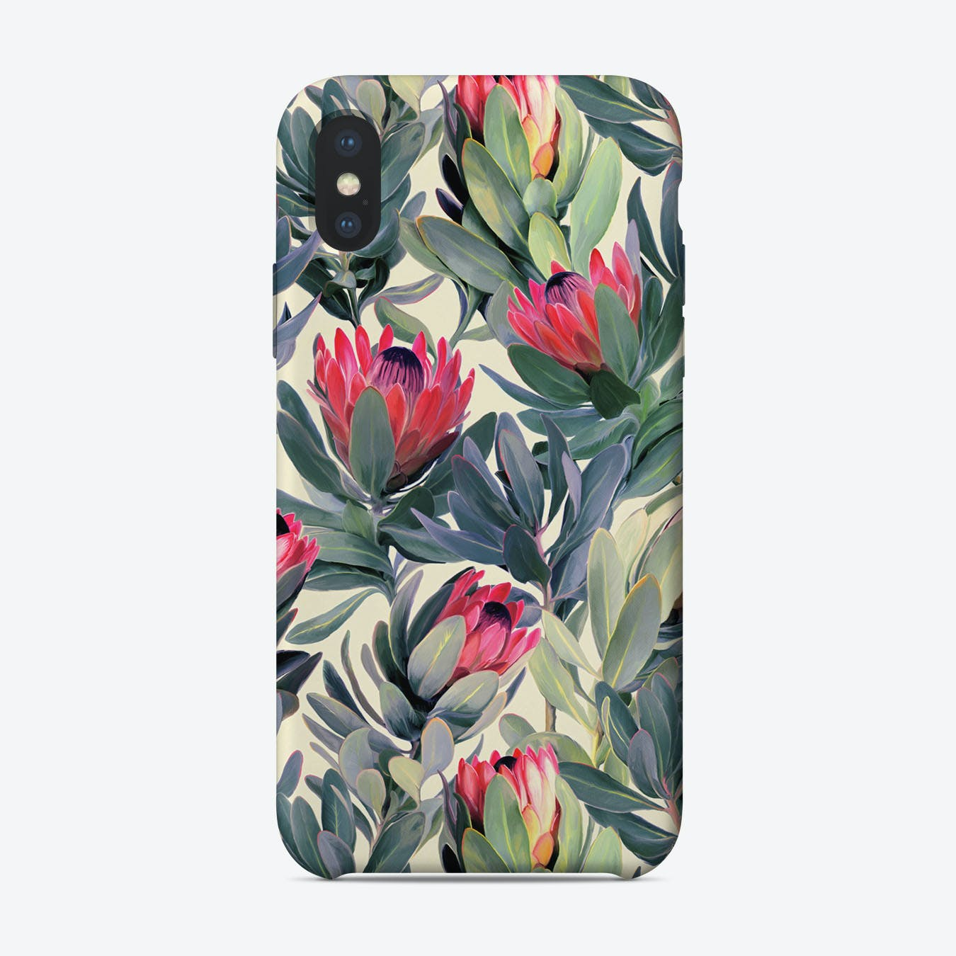 Painted Protea Pattern  iPhone Case