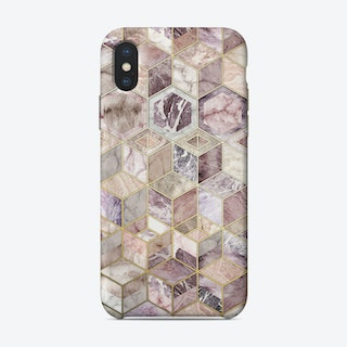 Blush Quartz Honeycomb  iPhone Case