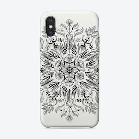 Thrive - Monochrome Mandala  iPhone Case