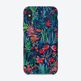Tropical Ink - a watercolor garden  iPhone Case