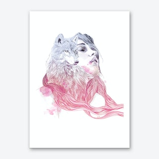 A Wolf In Girls Clothing Art Print