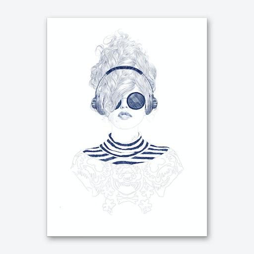 Groove Baby Art Print