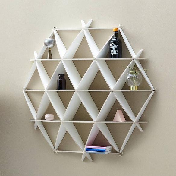 Mini Bookshelf Comb In White By Jaanus Orgusaar