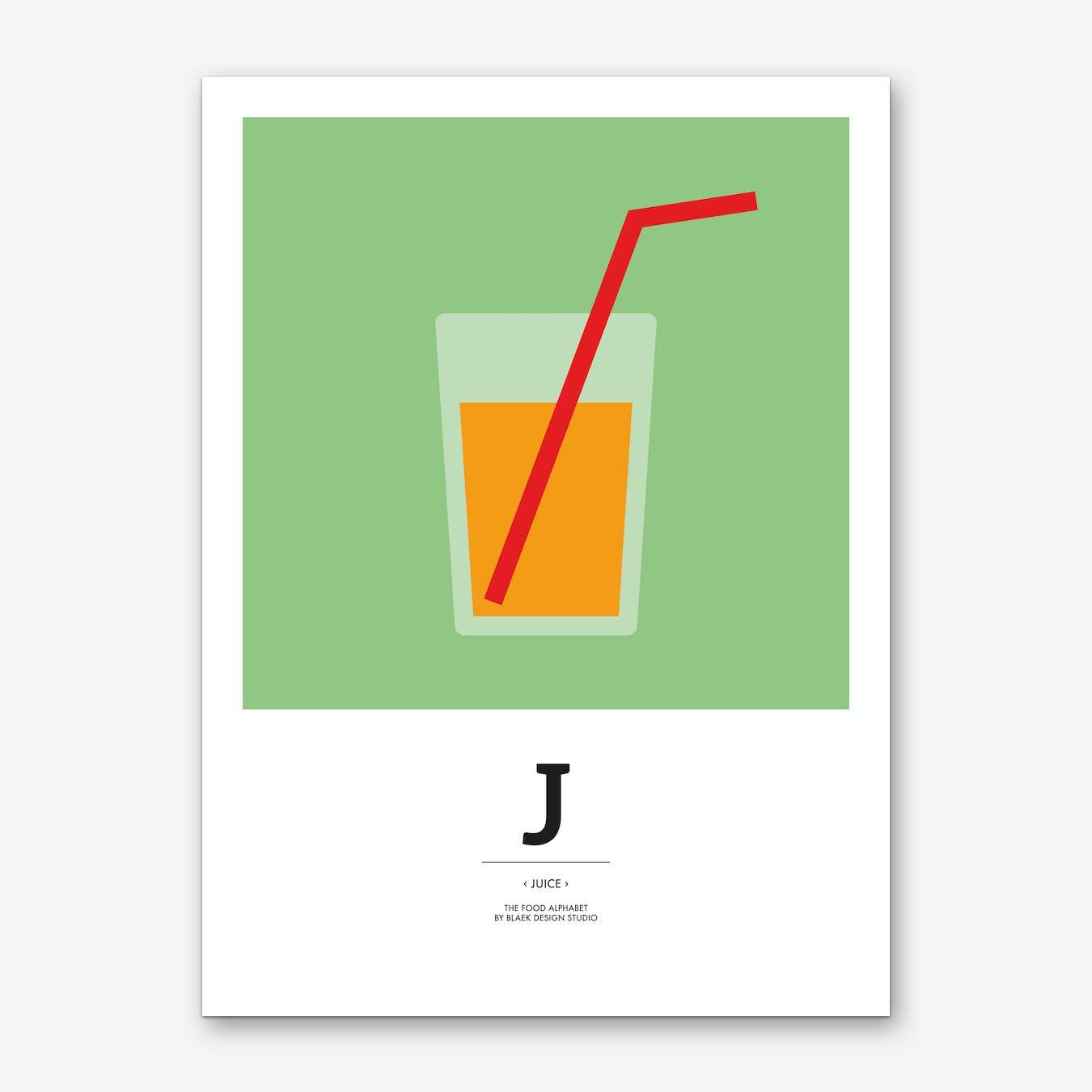 The Food Alphabet – J Art Print