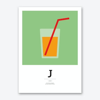 The Food Alphabet – J Art Print