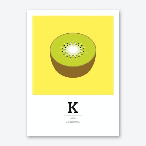 The Food Alphabet – K Art Print