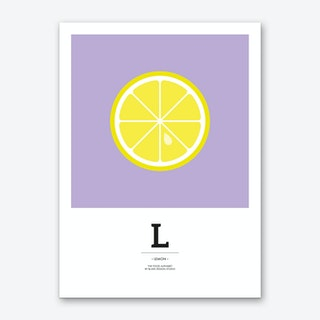 The Food Alphabet – L Art Print