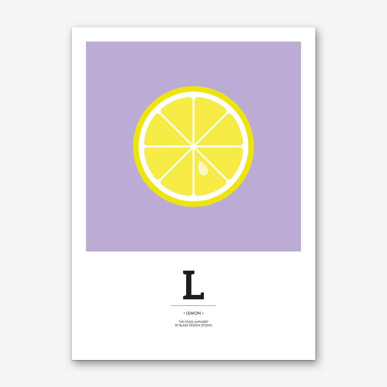 The Food Alphabet – L Art Print