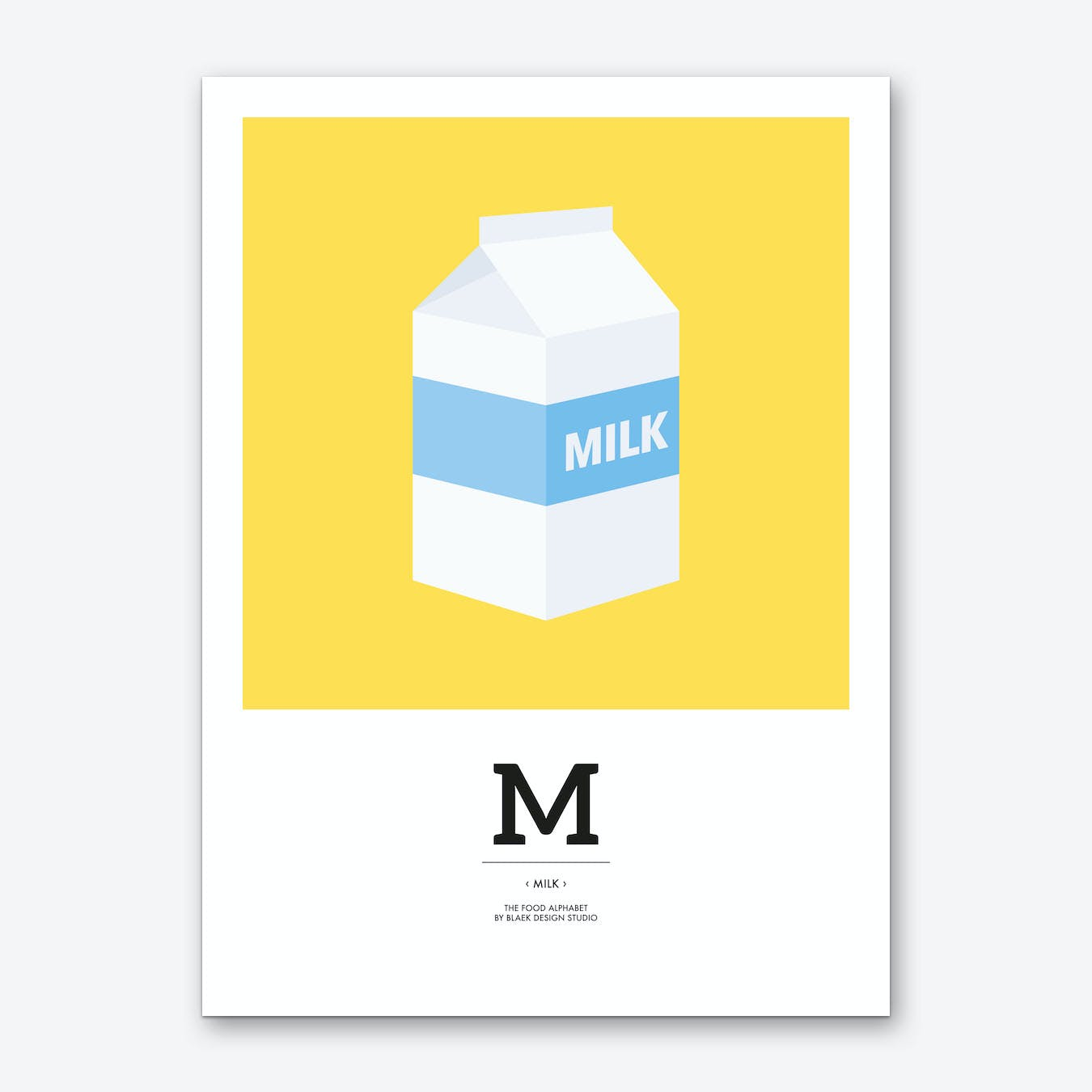 The Food Alphabet – M Art Print