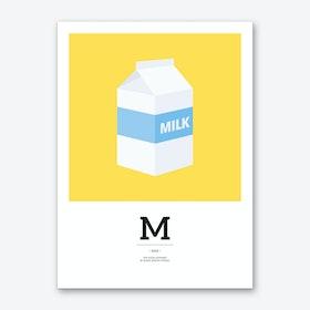 The Food Alphabet – M Art Print