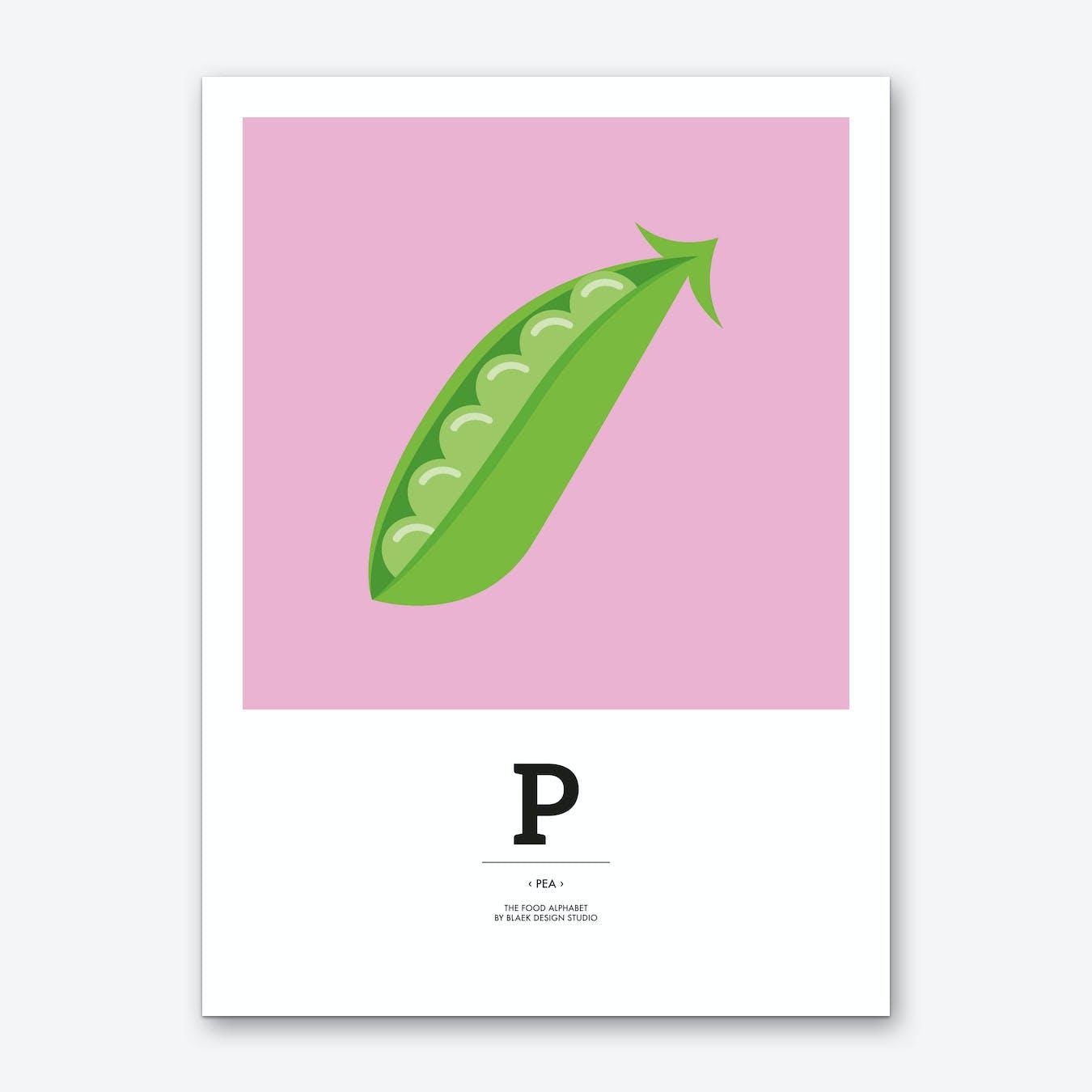 The Food Alphabet – P Art Print