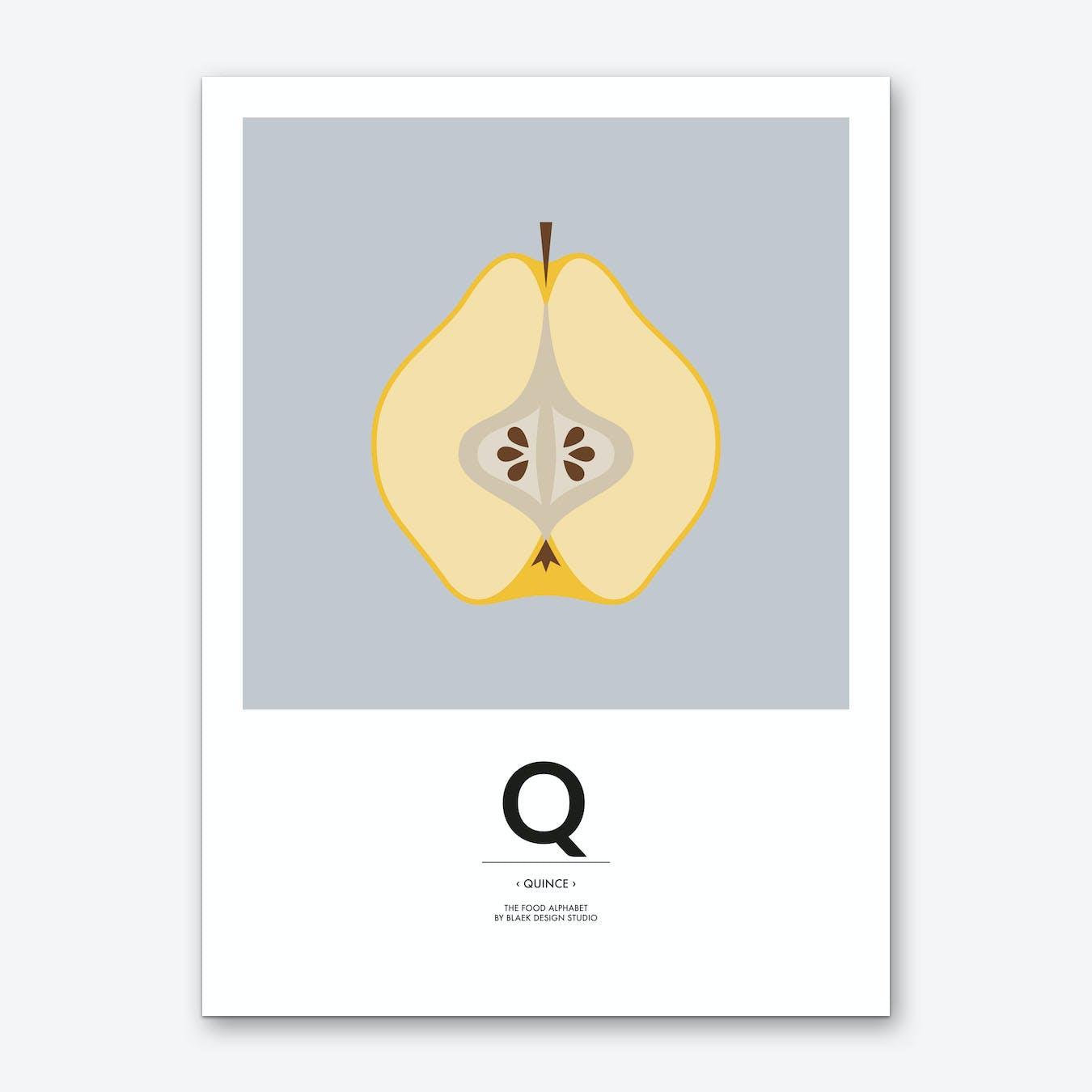 The Food Alphabet – Q Art Print