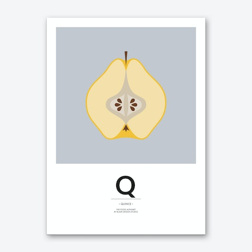The Food Alphabet – Q Art Print