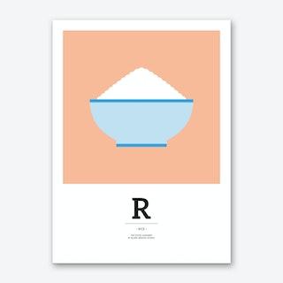 The Food Alphabet – R Art Print