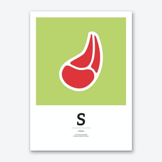 The Food Alphabet – S Art Print
