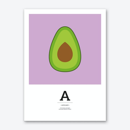 The Food Alphabet – A Art Print