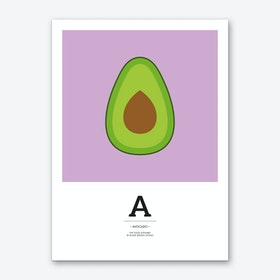 The Food Alphabet – A Art Print