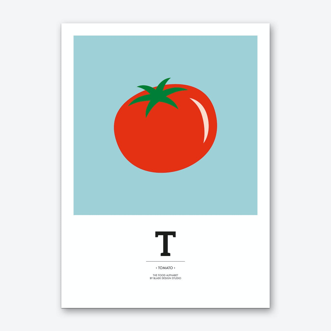 The Food Alphabet – T Art Print