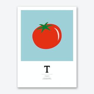 The Food Alphabet – T Art Print