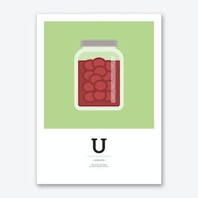The Food Alphabet – U Art Print