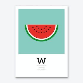 The Food Alphabet – W Art Print