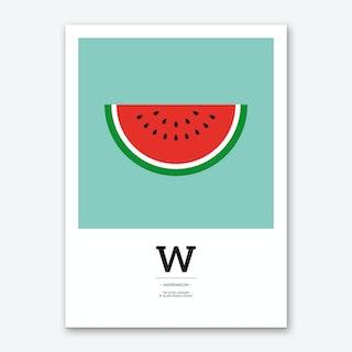 The Food Alphabet – W Art Print