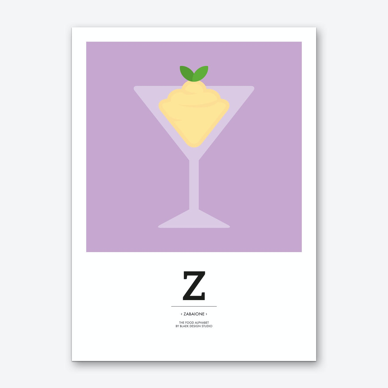 The Food Alphabet – Z Art Print