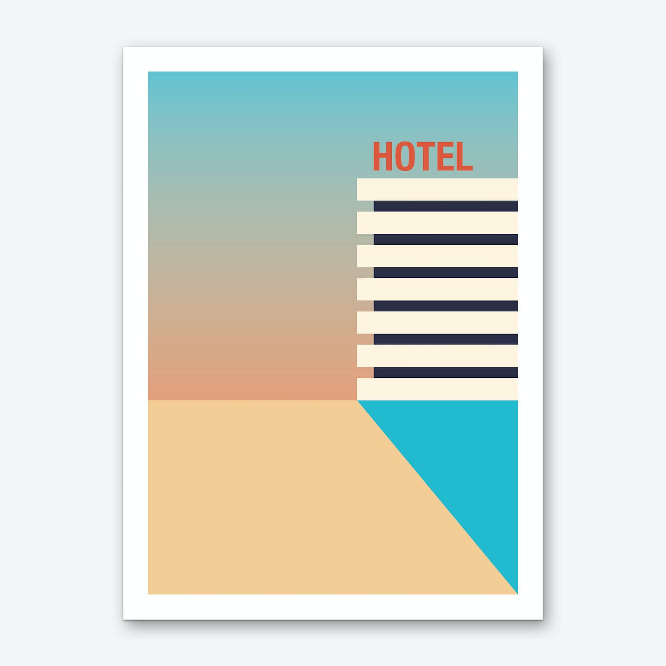 Hotel Sunrise Art Print