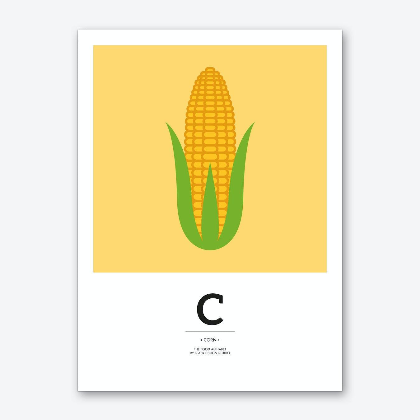 The Food Alphabet – C Art Print