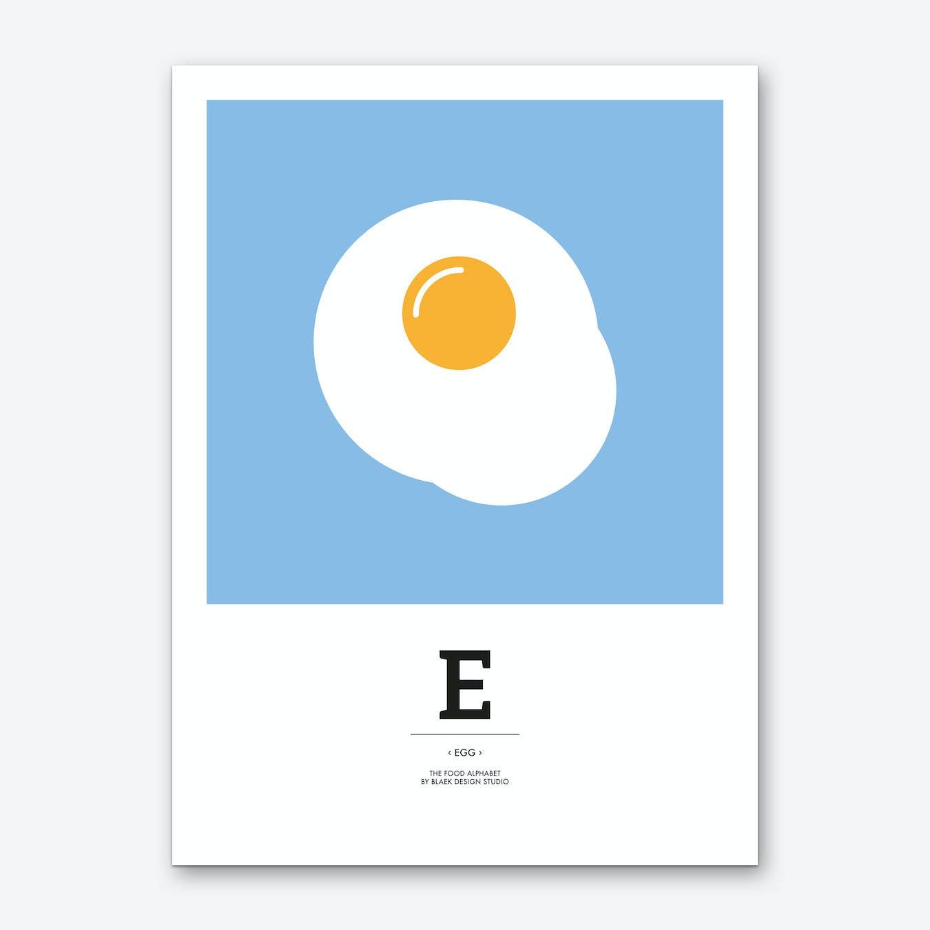 The Food Alphabet – E Art Print