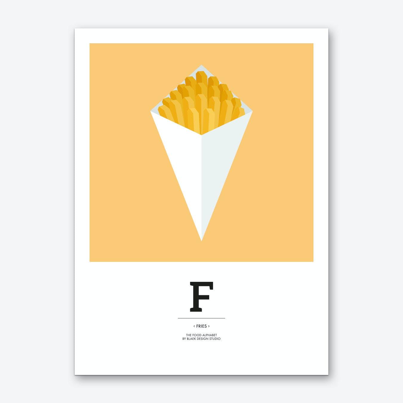 The Food Alphabet – F Art Print