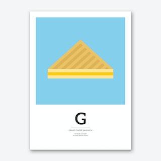 The Food Alphabet – G Art Print
