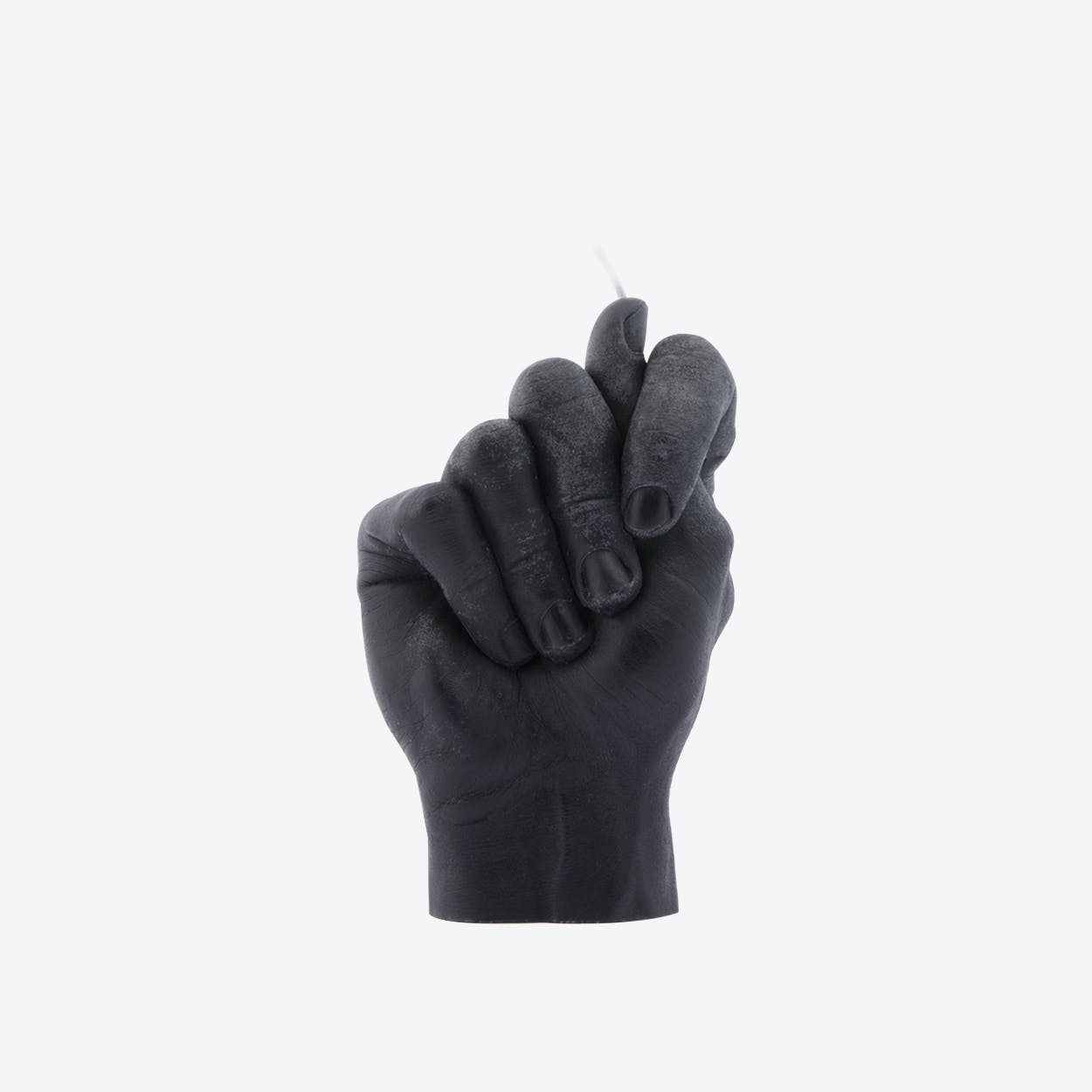 """Fig Hand"" Hand Gesture Candle in Black"
