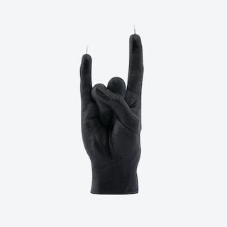 """""""You Rock"""" Hand Gesture Candle in Black"""
