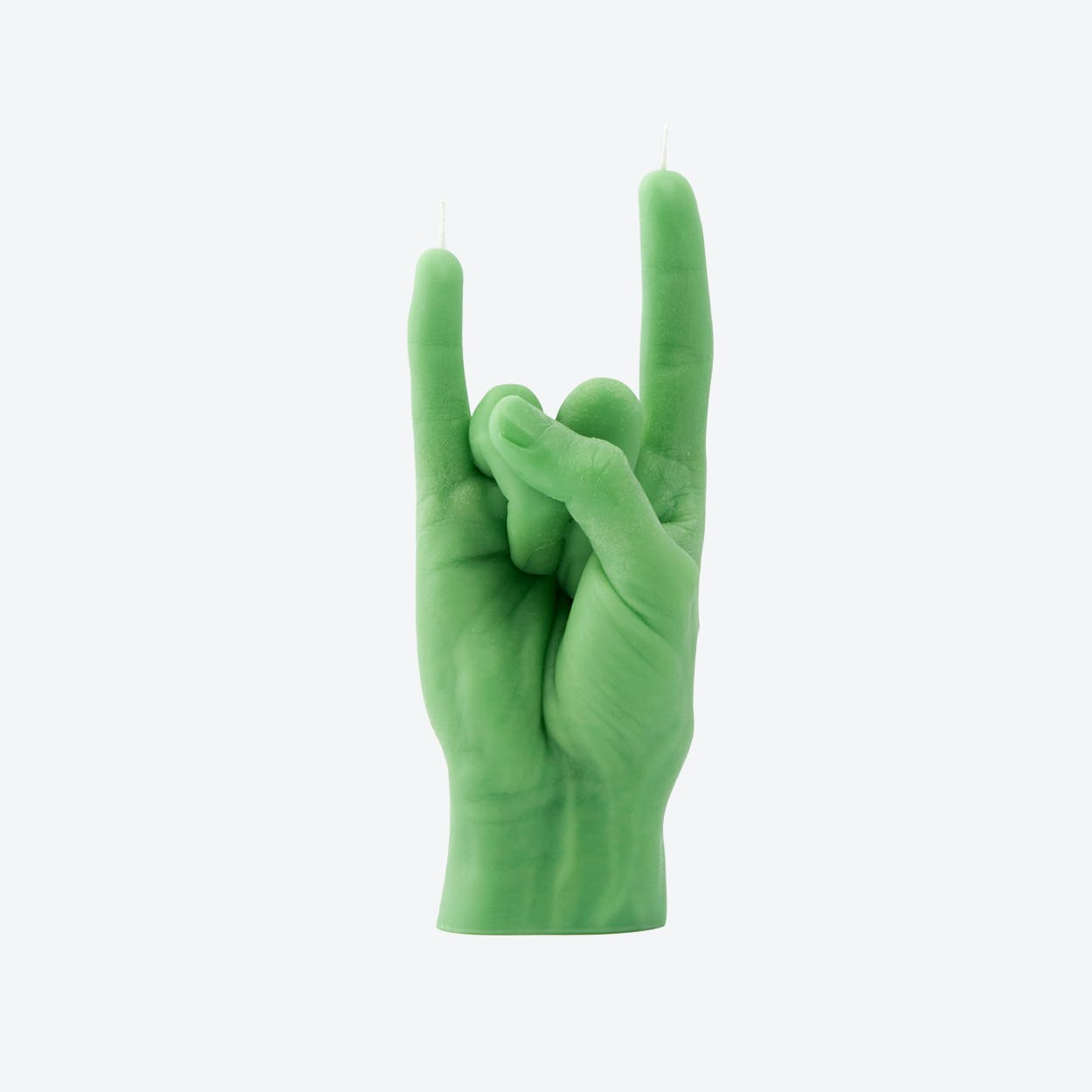 """You Rock"" Hand Gesture Candle in Green"