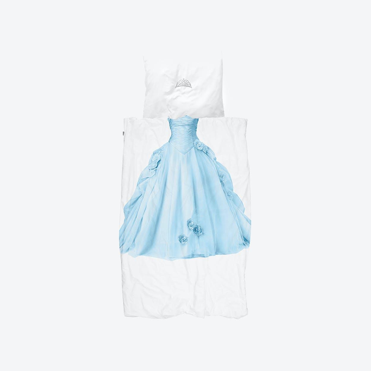 Princess Duvet Cover & Pillowcase Set in Blue