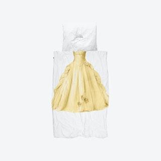 Princess Duvet Cover & Pillowcase Set in Yellow