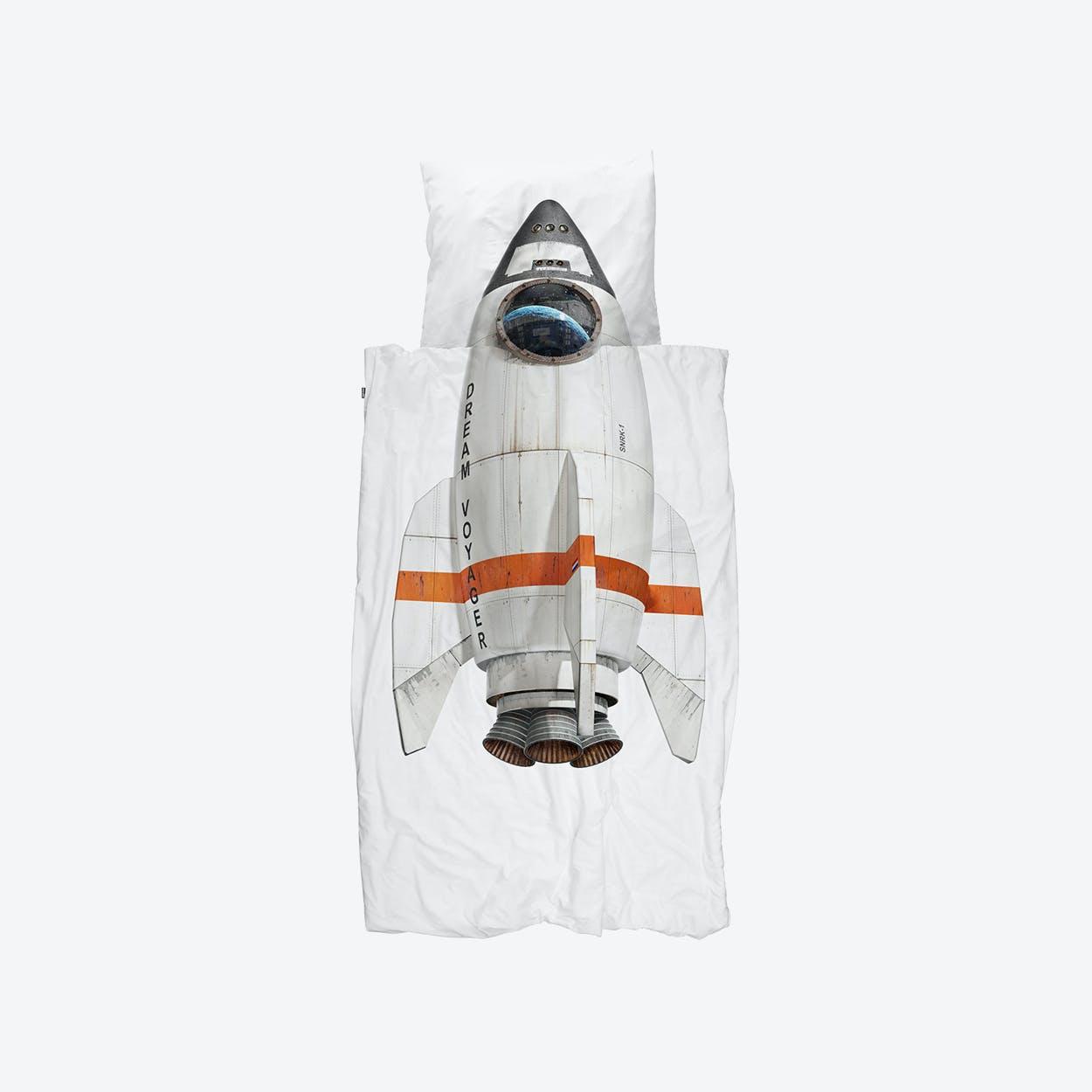 Rocket Duvet Cover & Pillowcase Set